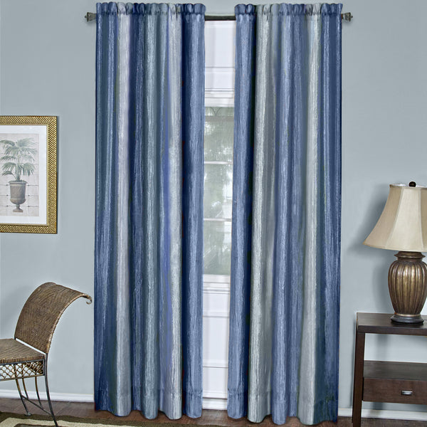 Ombre Rod Pocket Panel - Panel   050x063 Blue C35858- Marburn Curtains