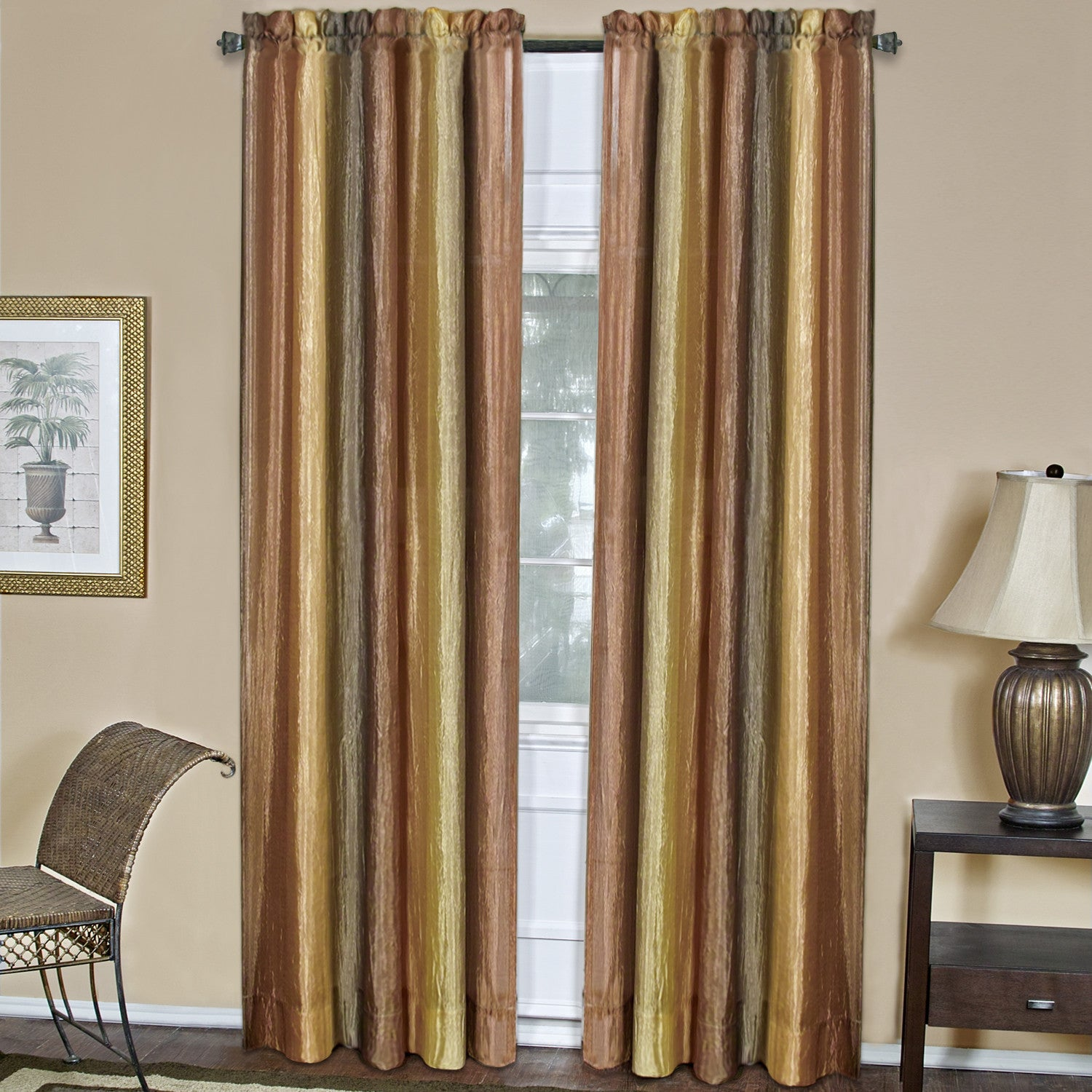 Ombre Rod Pocket Panel - Panel   050x063 Autumn C31358- Marburn Curtains