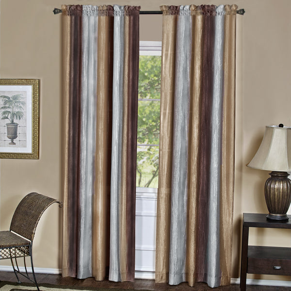 Ombre Rod Pocket Panel - Panel   050x063 Chocolate C31360- Marburn Curtains