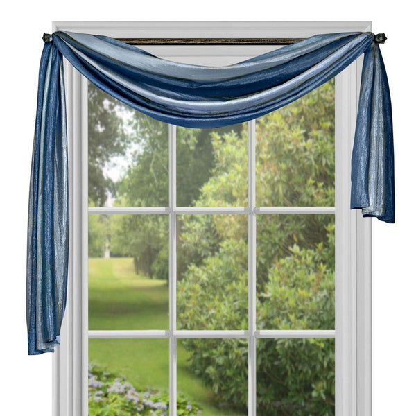 Ombre Scarf Valance Topper - Scarf 050x144 Blue C35860- Marburn Curtains