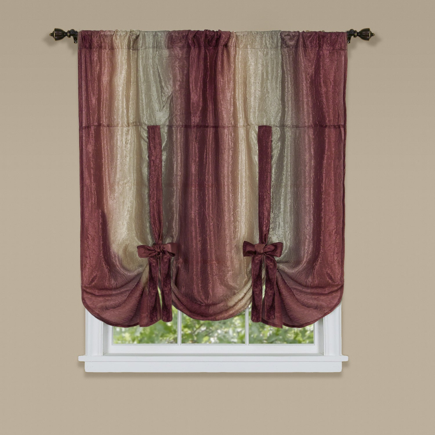 Ombre Rod Pocket Tie Up Balloon Shade Marburn Curtains