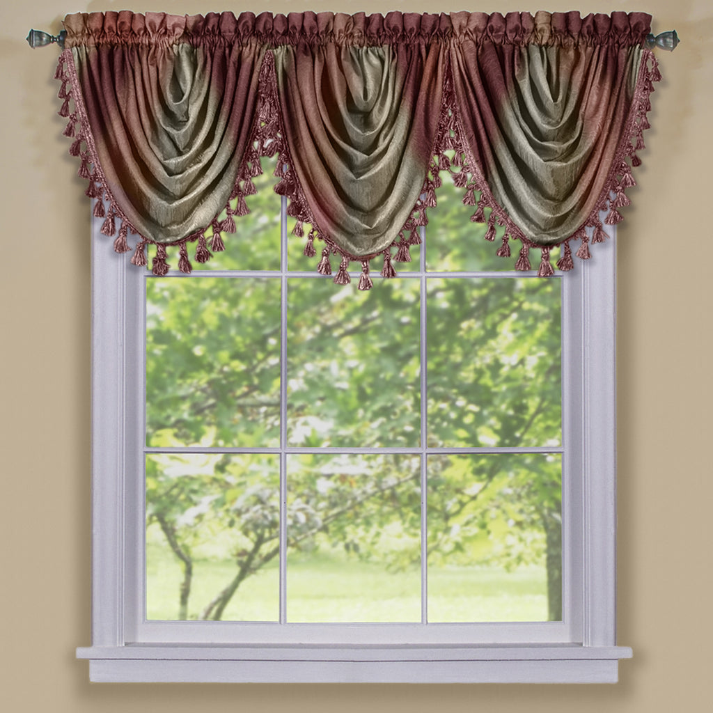 Ombre Rod Pocket Waterfall Valance