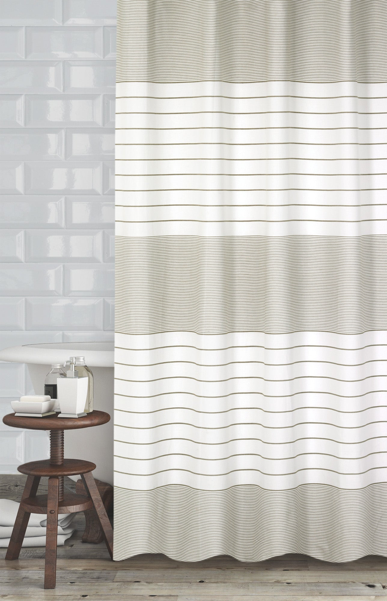 Pacey Fabric Shower Curtain