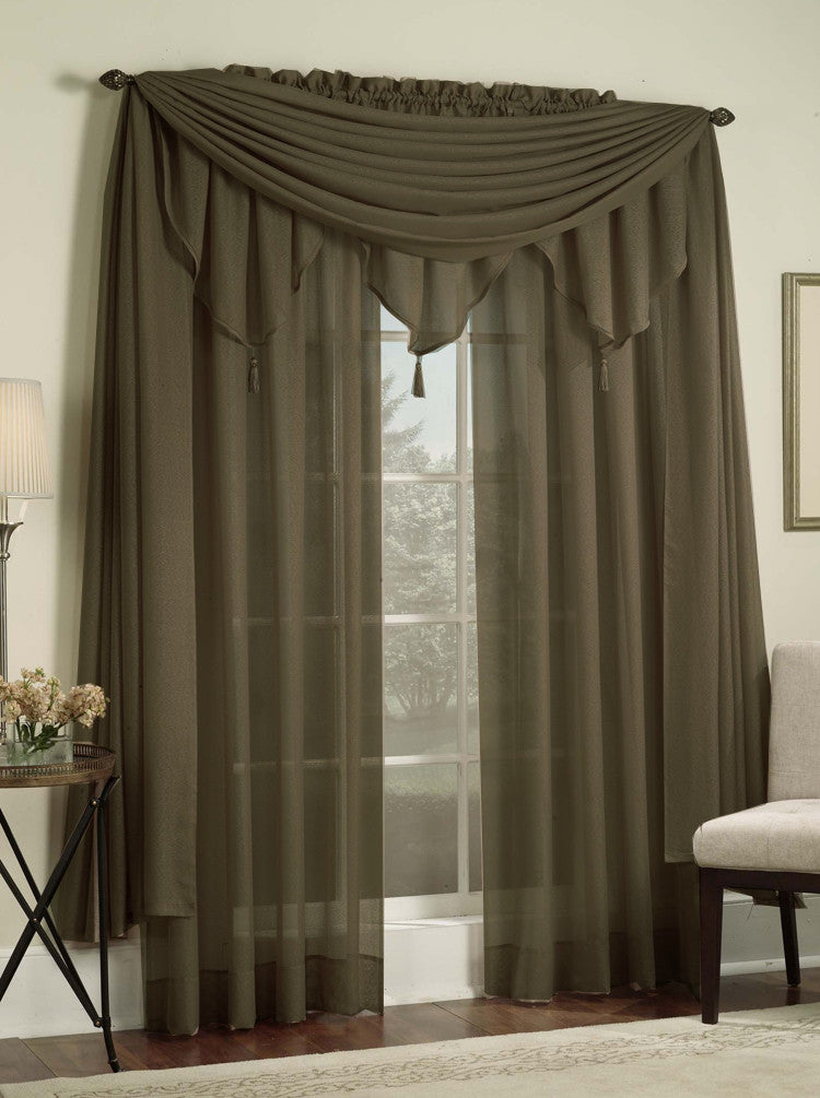 Reverie Rod Pocket Semi-Sheer Snow Voile Panel Collection