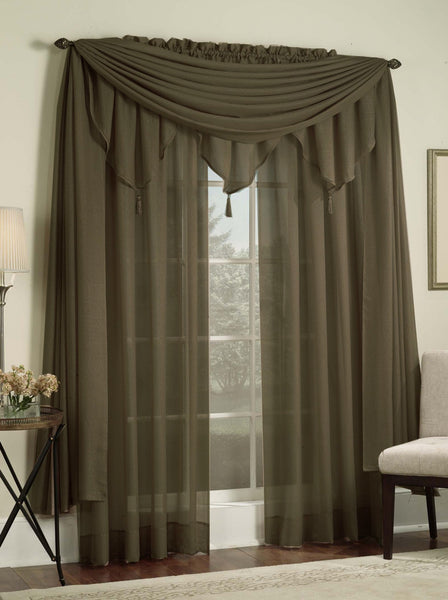 Reverie Rod Pocket Semi-Sheer Snow Voile Panel Collection - - Marburn Curtains