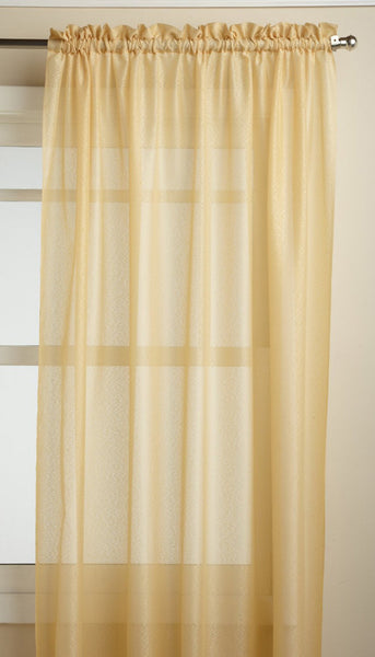 Reverie Rod Pocket Semi-Sheer Snow Voile Panel Collection - Panel  060x063 Gold C33464- Marburn Curtains