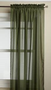 Reverie Rod Pocket Semi-Sheer Snow Voile Scarf Valance - Ascot Valance 040x025 Green C33489- Marburn Curtains