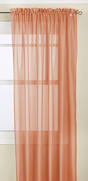 Reverie Rod Pocket Semi-Sheer Snow Voile Panel Collection - Panel  060x063 Spice C28998- Marburn Curtains