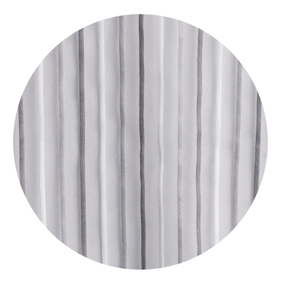 Pin Stripes Semi-sheer Grommet Panel - 054x084   Platinum- Marburn Curtains