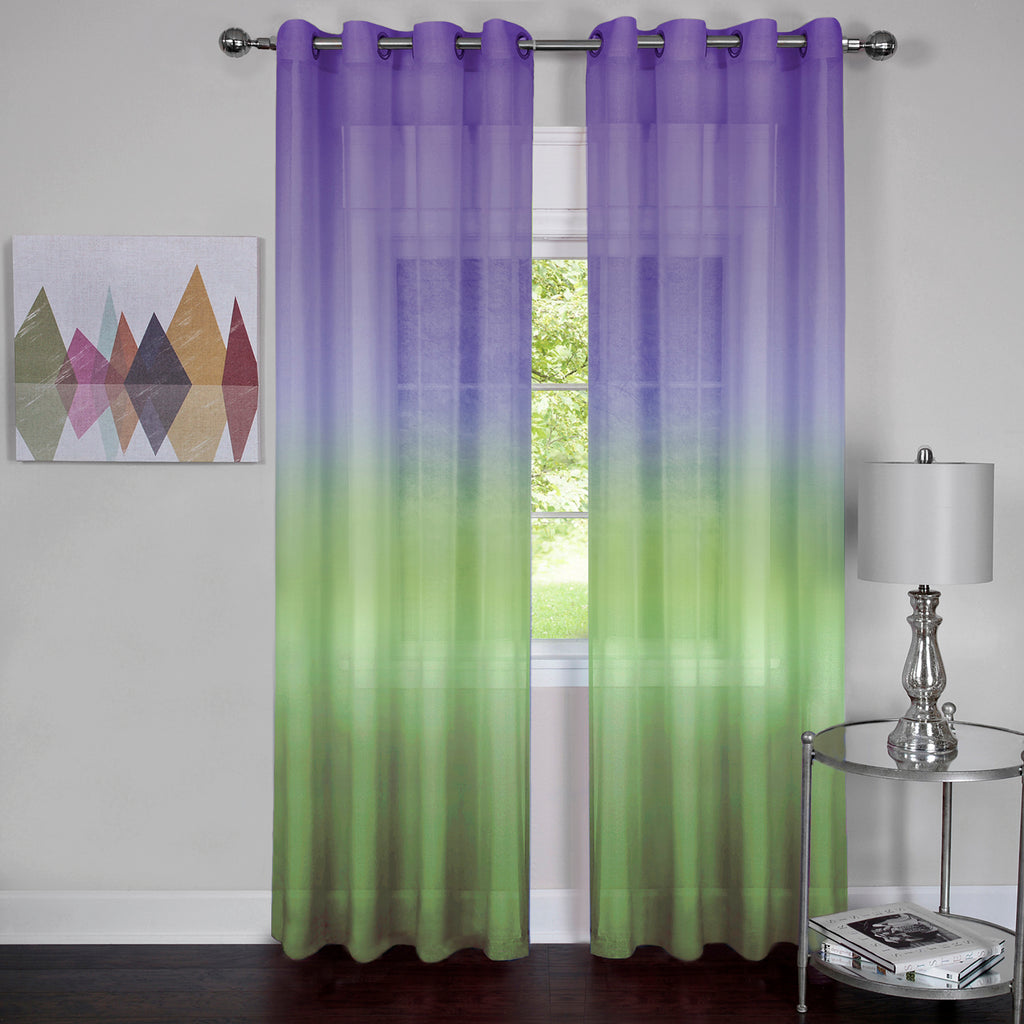 Rainbow Semi-Sheer Grommet Panel