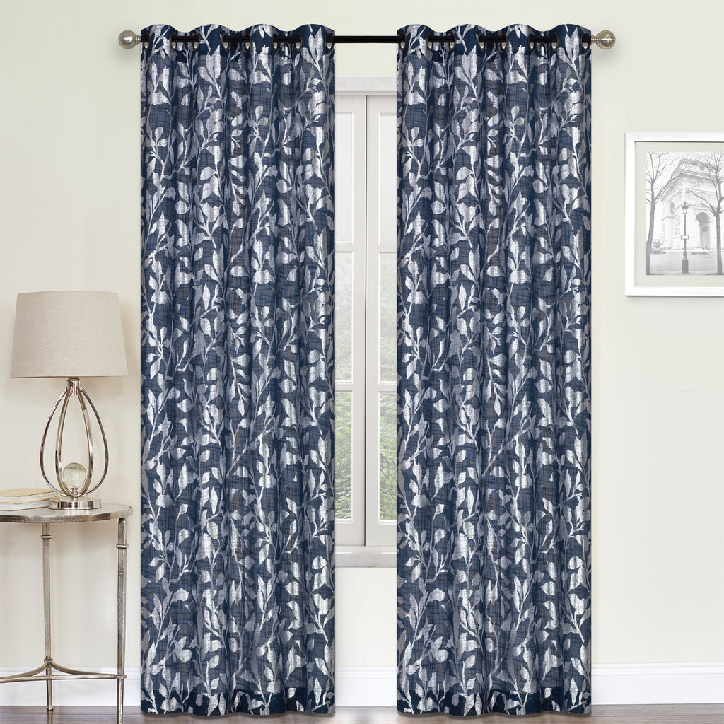 "Rhiannon Grommet Curtain Panel 84"" 050x084   Navy  C44719"