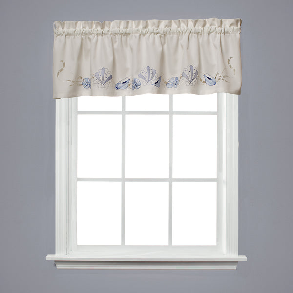 Sea Breeze Rod Pocket Valance - Valance 057x013 Ocean C32739- Marburn Curtains