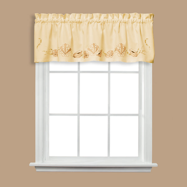 Sea Breeze Rod Pocket Valance - Valance 057x013 Sand C32740- Marburn Curtains