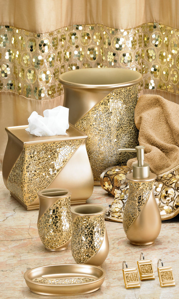 Sinatra Fabric Bath Collection Champagne Gold