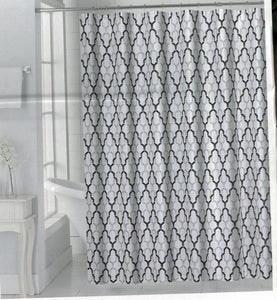 Charlton Salon de Maison Fabric Shower Curtain Black - - Marburn Curtains