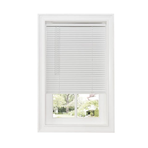 "Sundown 1"" Cordless Vinyl Mini Blind-WHITE - - Marburn Curtains"