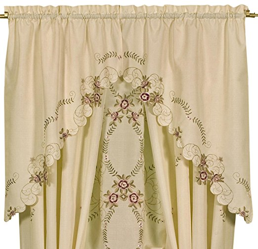 Verona Embroidery Rod Pocket Collection - - Marburn Curtains