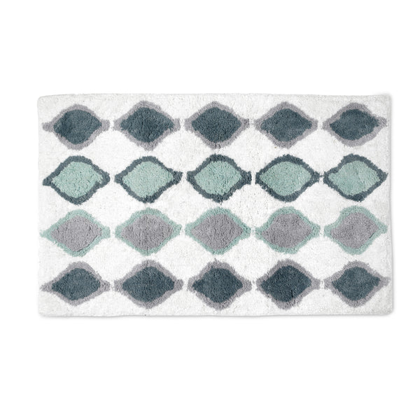 Sea Glass Fabric Bath Collection - Bath Rug 020x032 Teal C40392- Marburn Curtains