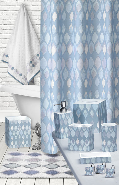 Sea Glass Fabric Bath Collection - - Marburn Curtains