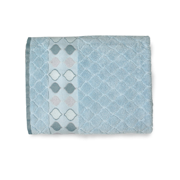Sea Glass Fabric Bath Collection - Bath Towel 027x054 Slate Blue C39803- Marburn Curtains