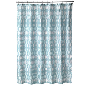 Sea Glass Fabric Bath Collection - Shower Curtain   6x6 Teal C40384- Marburn Curtains