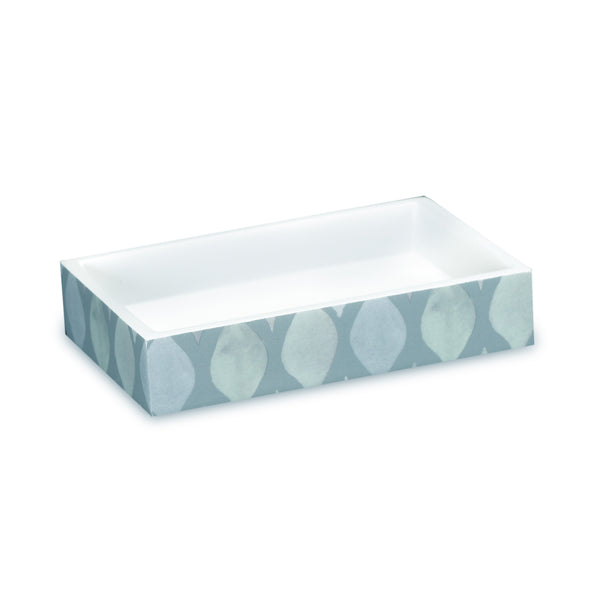 Sea Glass Fabric Bath Collection - Soap Dish  Teal C40391- Marburn Curtains