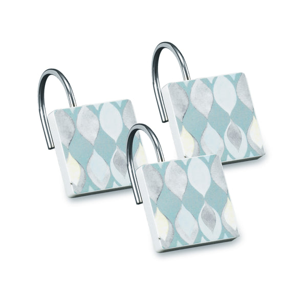Sea Glass Fabric Bath Collection - Shower Hooks C40385- Marburn Curtains