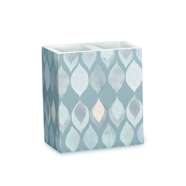 Sea Glass Fabric Bath Collection - Toothbrush Holder   Teal C40390- Marburn Curtains