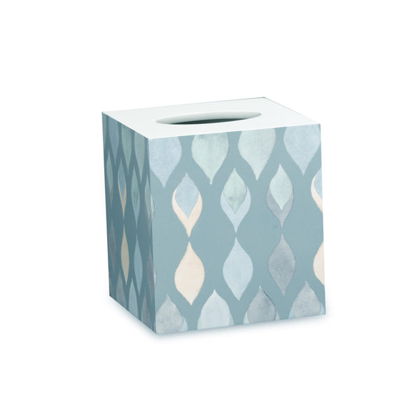 Sea Glass Fabric Bath Collection - Tissue Box   Teal C40387- Marburn Curtains