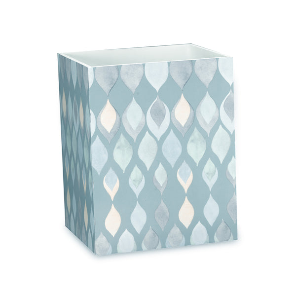 Sea Glass Fabric Bath Collection - Wastebasket   Teal C40386- Marburn Curtains