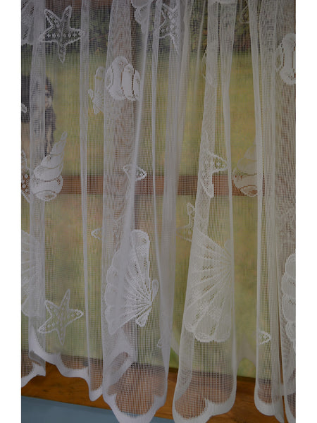 Seashell Lace Rod Pocket Panel Collection - - Marburn Curtains