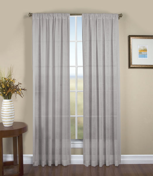 Shannon Rod Pocket Panel - Panel   052x063 Grey C28893- Marburn Curtains
