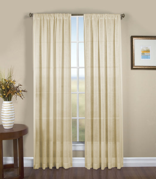 Shannon Rod Pocket Panel - Panel   052x063 Natural C24377- Marburn Curtains