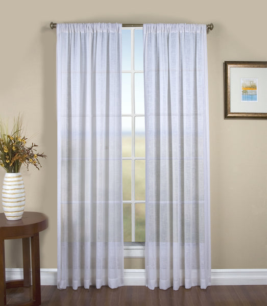 Shannon Rod Pocket Panel - Panel   052x063 White C24378- Marburn Curtains