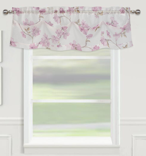 "Sheffield Rod Pocket Valance 14"" - Lilac  C42925- Marburn Curtains"