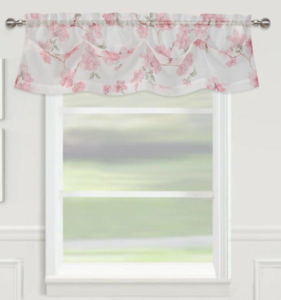 "Sheffield Rod Pocket Valance 14"" - Rose  C42928- Marburn Curtains"