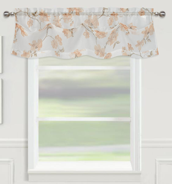 "Sheffield Rod Pocket Valance 14"" - Coffee  C42926- Marburn Curtains"