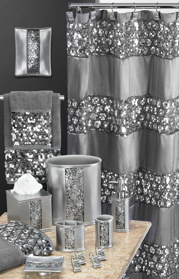 Sinatra Fabric Bath Collection Silver