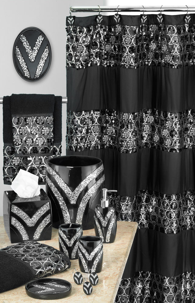 Sinatra Fabric Bath Collection Black