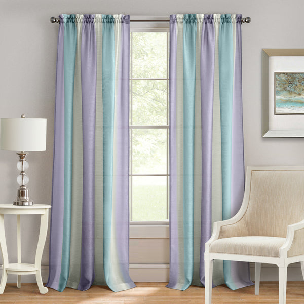 Spectrum Rod Pocket Panel - Panel  Lilac Turquoise 050x063 C39373- Marburn Curtains