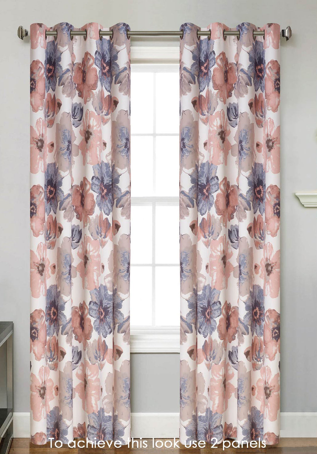 Sunshine Blackout Grommet Panel - 054x063   Blush C43799- Marburn Curtains