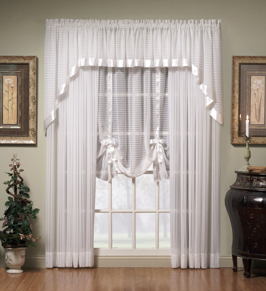 "Silhouette Rod Pocket Sheer Tie-Up Shade 63"" - - Marburn Curtains"