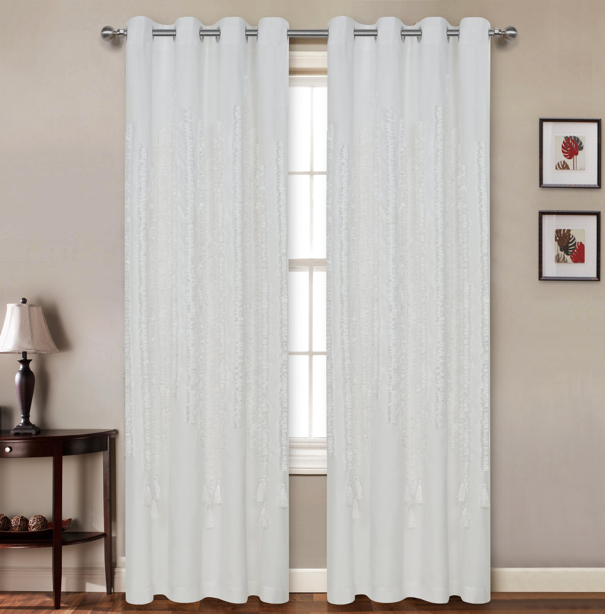 "Taylor 3D Lined Grommet Panel 84"" - - Marburn Curtains"