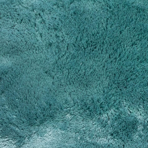 St. Lucia Plush Bath Rug Contour - Contour 020x020 Teal C41340- Marburn Curtains