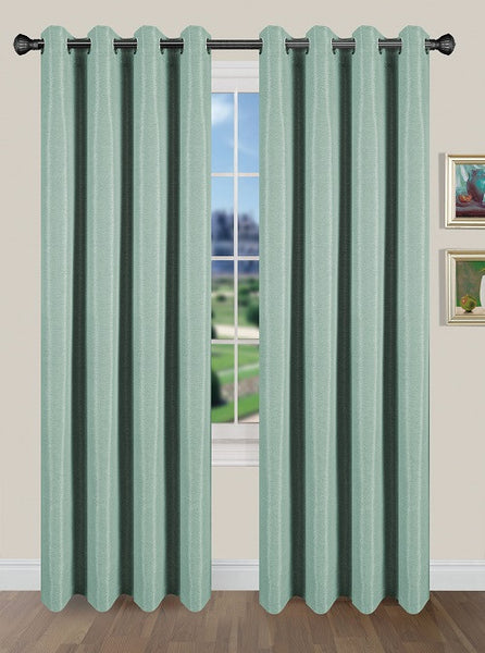 Tivoli Room Darkening Grommet Panel - Panel   054x084 Aqua C40589- Marburn Curtains