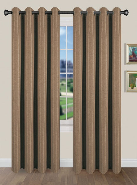 Tivoli Room Darkening Grommet Panel - Panel   054x084 Cocoa C40591- Marburn Curtains