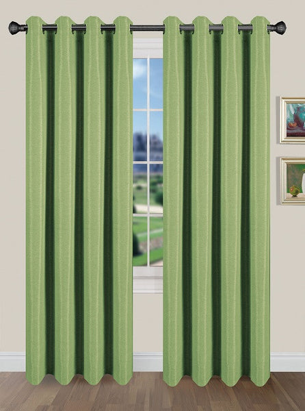Tivoli Room Darkening Grommet Panel - Panel   054x084 Leaf Green C40590- Marburn Curtains