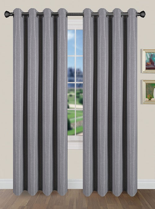 Tivoli Room Darkening Grommet Panel - Panel   054x084 Silver C40586- Marburn Curtains