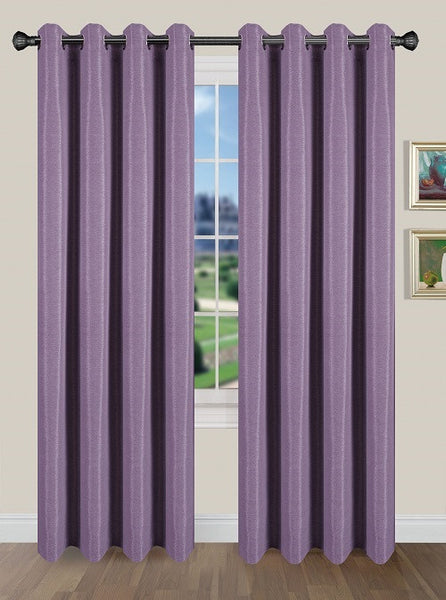 Tivoli Room Darkening Grommet Panel - Panel   054x084 Violet C40587- Marburn Curtains