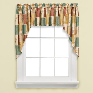 Tranquility Rod Pocket Swag - Swag 058x035 Multi C27901- Marburn Curtains